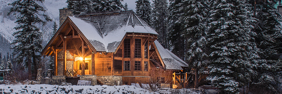 cozy winter house