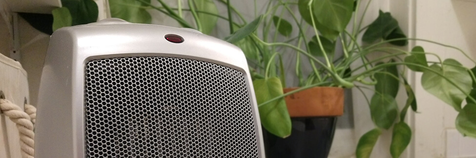 space heater with plant
